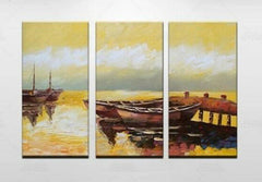 """TWO BOATS AT THE GOLDEN DOCK"""