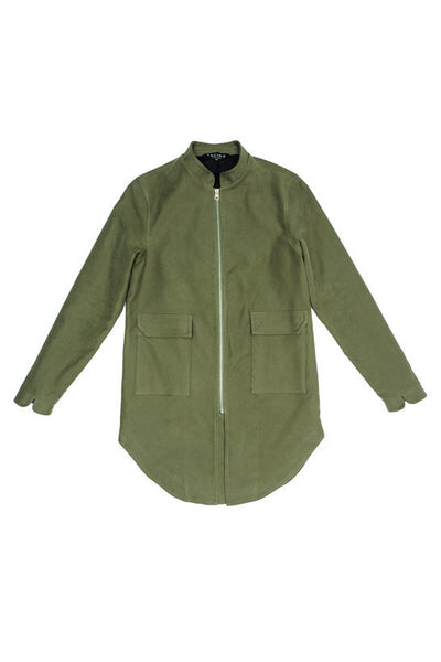 Split Coat II - Olive