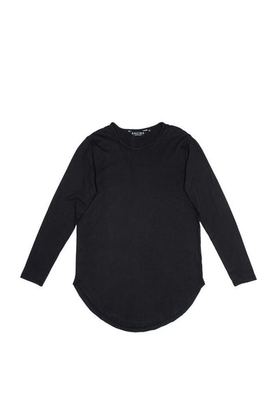Split LS Tee - Black