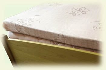 "Mattress Topper, 3"" Organic Dunlop Latex, organic cotton cover"