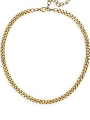 "17"" Burnished Gold Chain Necklace"