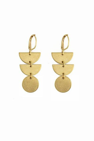 Little Brass Stack Earrings