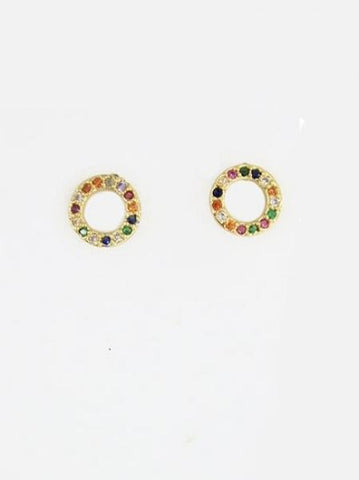 Rainbow Ring Earrings