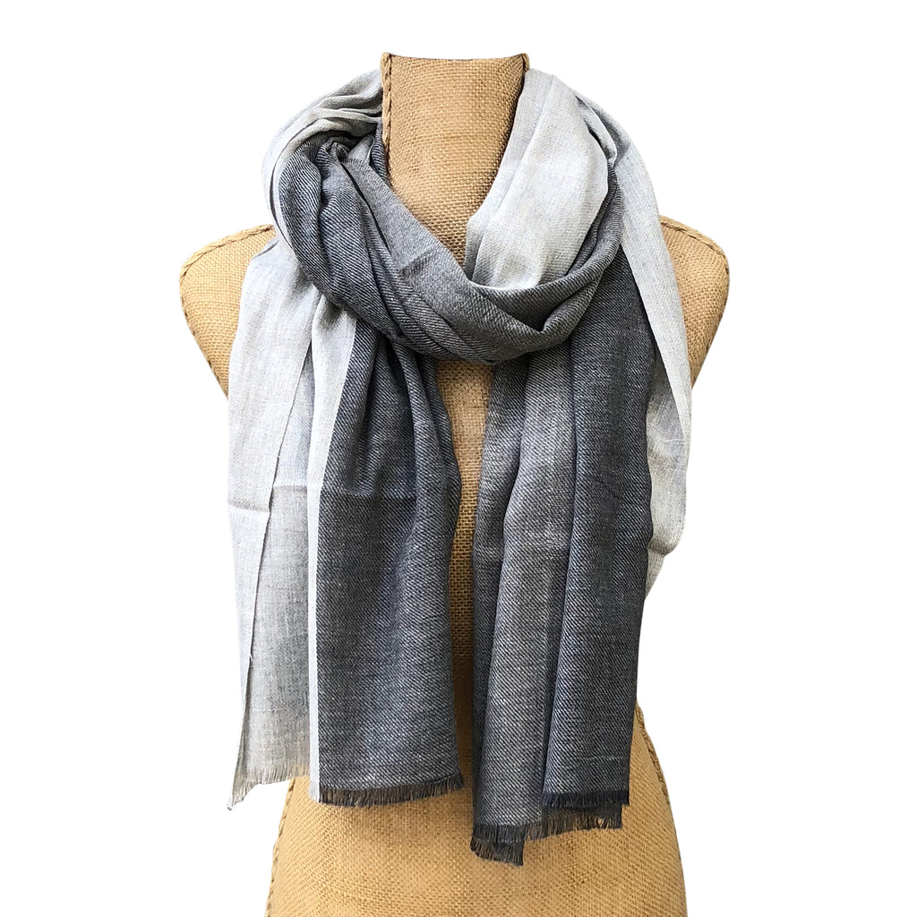 Ombre Stripes Cotton Scarf