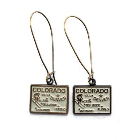 Colorado Map Earrings