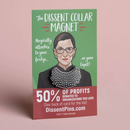 Dissent Collar Magnet Pin