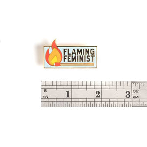 Flaming Feminist Pin