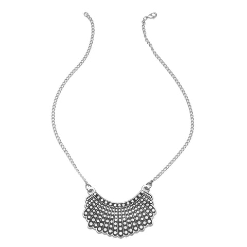 Dissent Collar Necklace - Silver