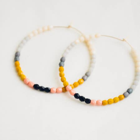 Big Chelsea Beaded Hoops