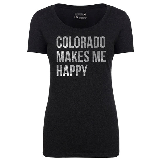 Colorado Makes Me Happy Fitted Tee