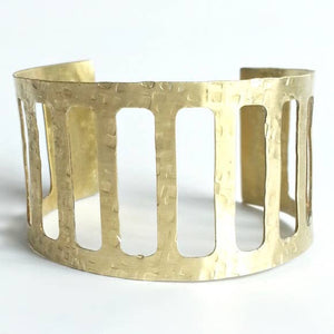 Hammered Cage Cuff