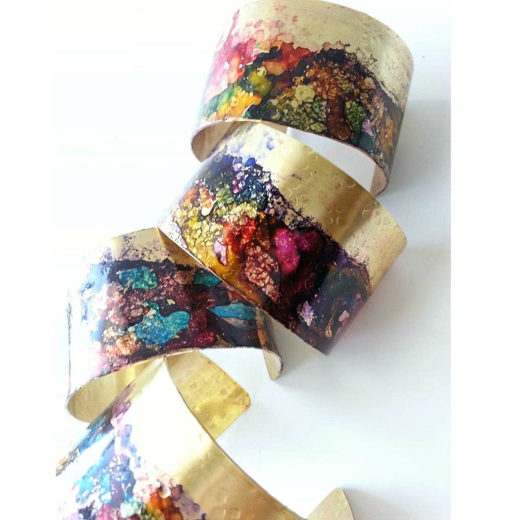 Ink Splatter Brass Cuff