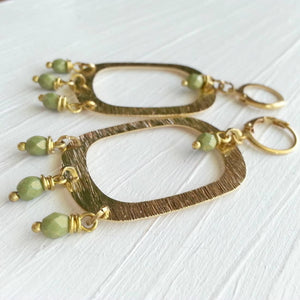 Dangle and Drop Brass Earrings