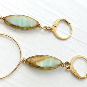 Mint Green Loop Earrings