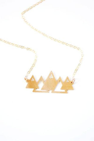 Geometric Mountains Necklace