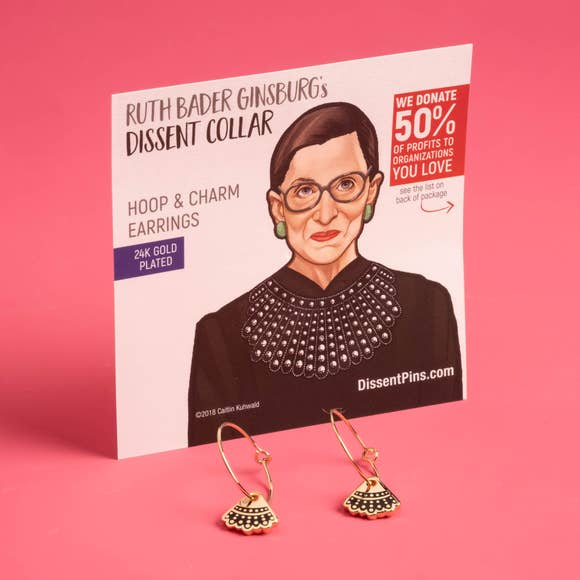 RBG Dissent hoop earrings