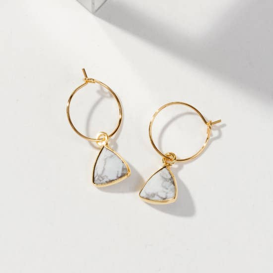 Bermuda Triangle Mini Hoop Earring