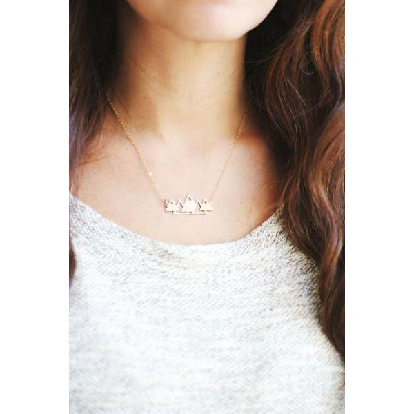 Brass Mountain Necklace
