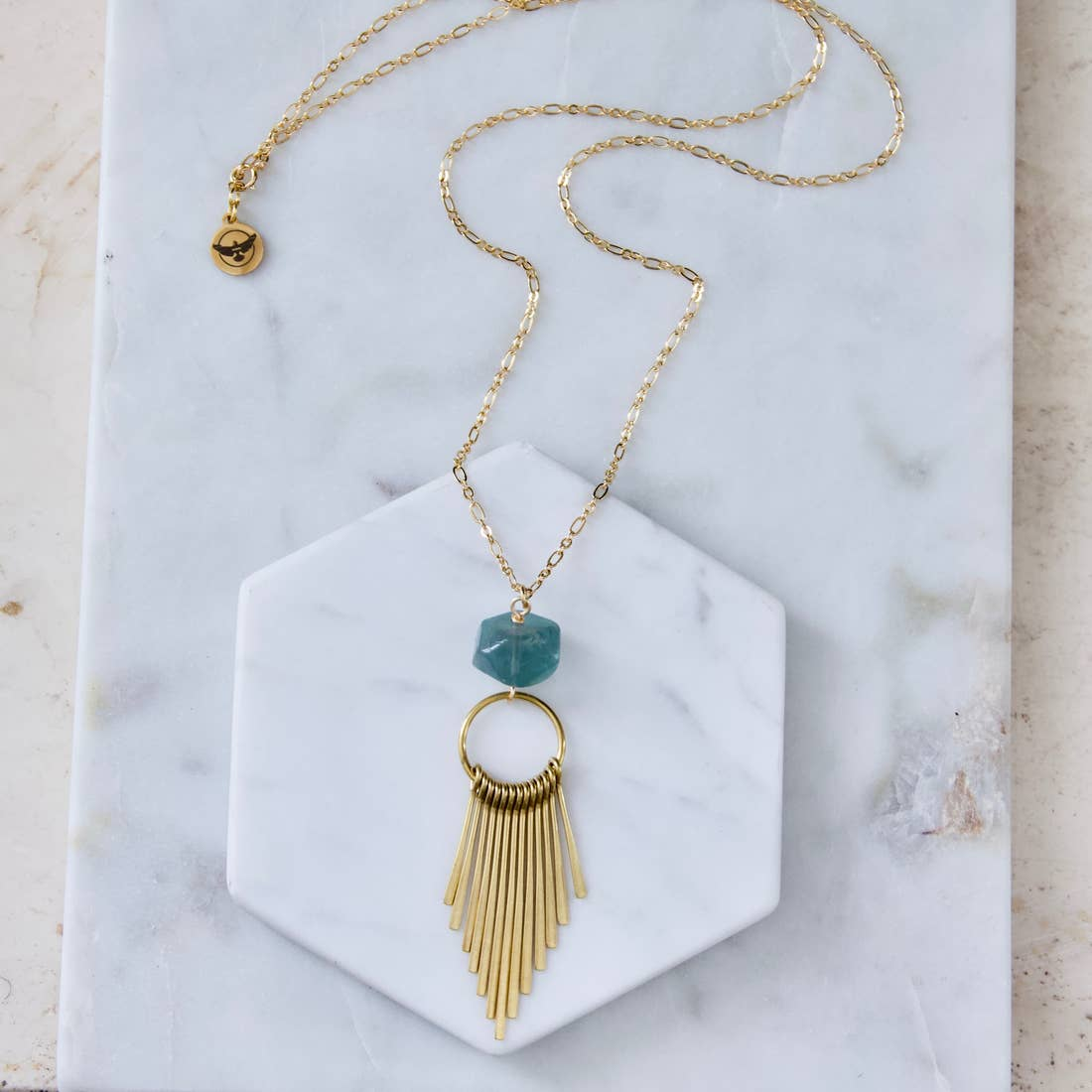 Fluorite Fringe Necklace