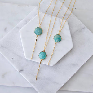 Amazonite Lariat Necklace