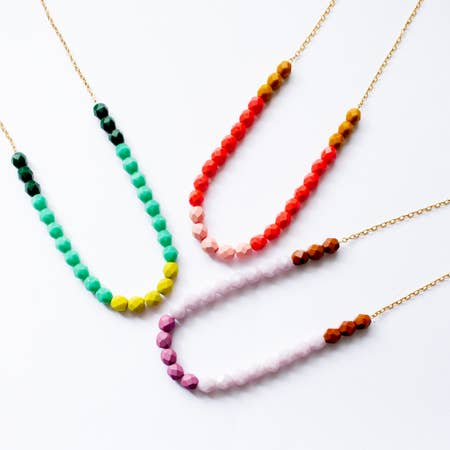 Colorful Bead Strand Necklace