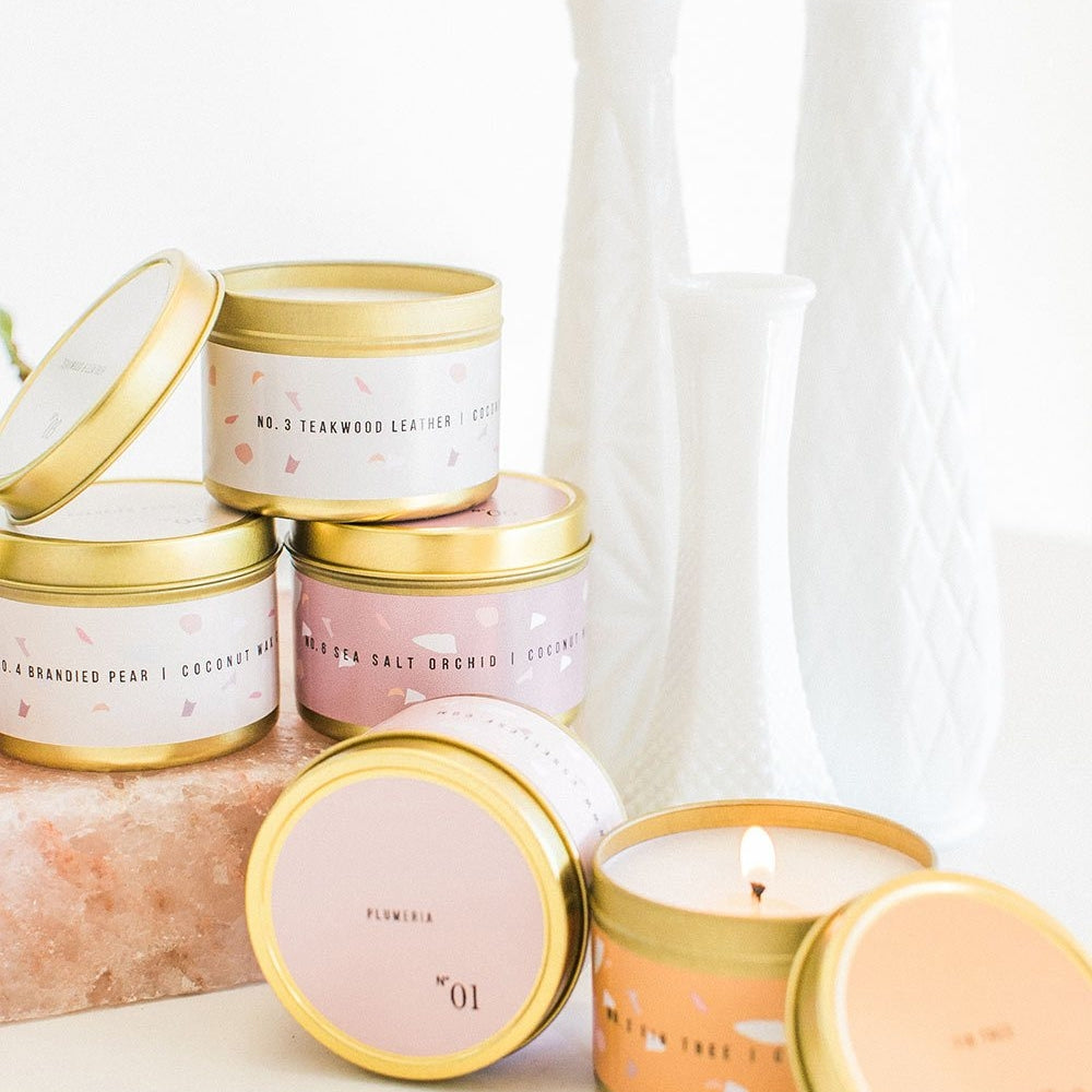 Gold Tin Travel Candles