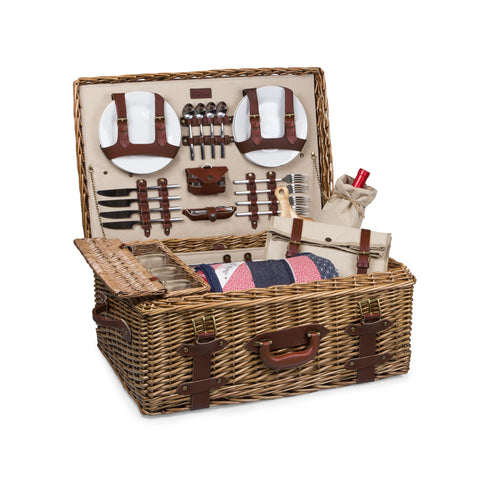 The Charleston Ultimate Picnic Basket - Elegant Touch Gourmet and Wine