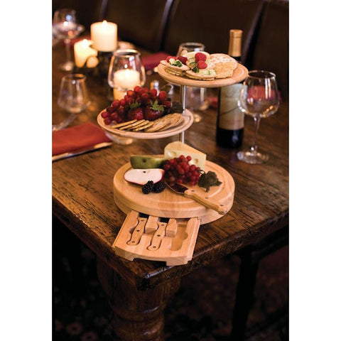 Three Tier Cheese Board - Elegant Touch Gourmet and Wine
