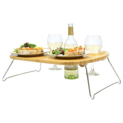 Portable Wine Serving Table - Elegant Touch Gourmet and Wine