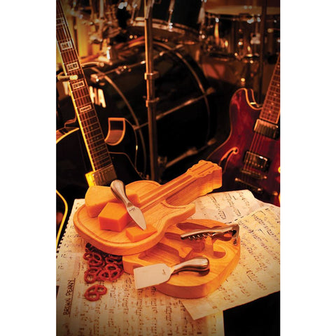 Guitar Shaped Cheese Board - Elegant Touch Gourmet and Wine