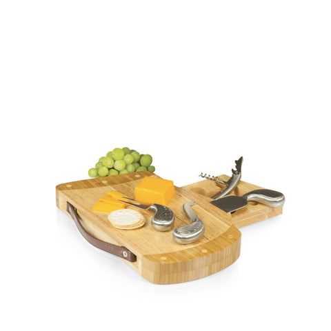 Golf Bag Cheese Board with Leatherette Strap - Elegant Touch Gourmet and Wine