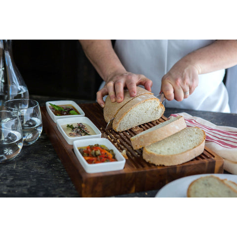 Bruschetta Cutting Board with compartment - Elegant Touch Gourmet and Wine