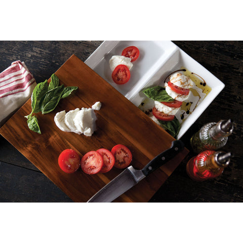 Rectangle Cutting Board with hidden Serving Tray - Elegant Touch Gourmet and Wine