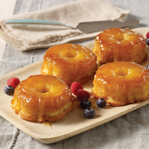 Individual Pineapple Upside Down Cakes - Elegant Touch Gourmet and Wine