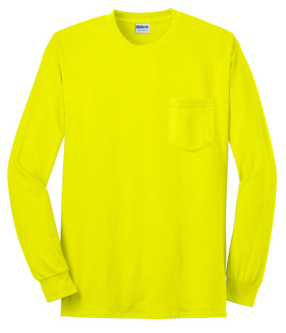 Gildan 2410 Gildan Ultra Cotton 100% Long Sleeve T-Shirt with Pocket