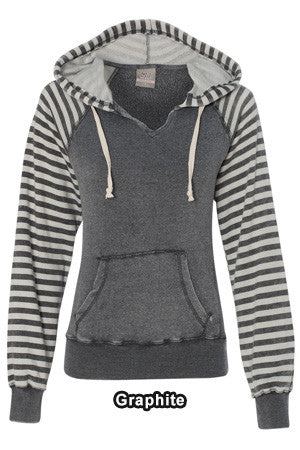 MV Sport 83552 - Ladies Angel Fleece Sanded Piper Hooded Pullover Sweatshirt