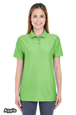 UltraClub 8413L - Ladies Cool & Dry Elite Tonal Stripe Performance Polo