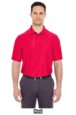 UltraClub 8413 - Cool & Dry Elite Tonal Stripe Performance Polo