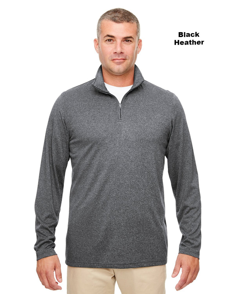 UltraClub 8618 Heathered Performance 1/4 Zip