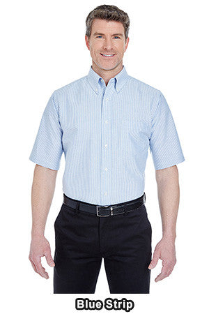UltraClub 8972 - Classic Wrinkle-Resistant Short-Sleeve Oxford