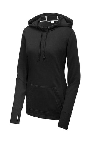 Sport-Tek ® Ladies PosiCharge ® Tri-Blend Wicking Fleece Hooded Pullover LST296