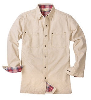 Backpacker BP7006 - Canvas Shirt Jacket with Flannel Lining