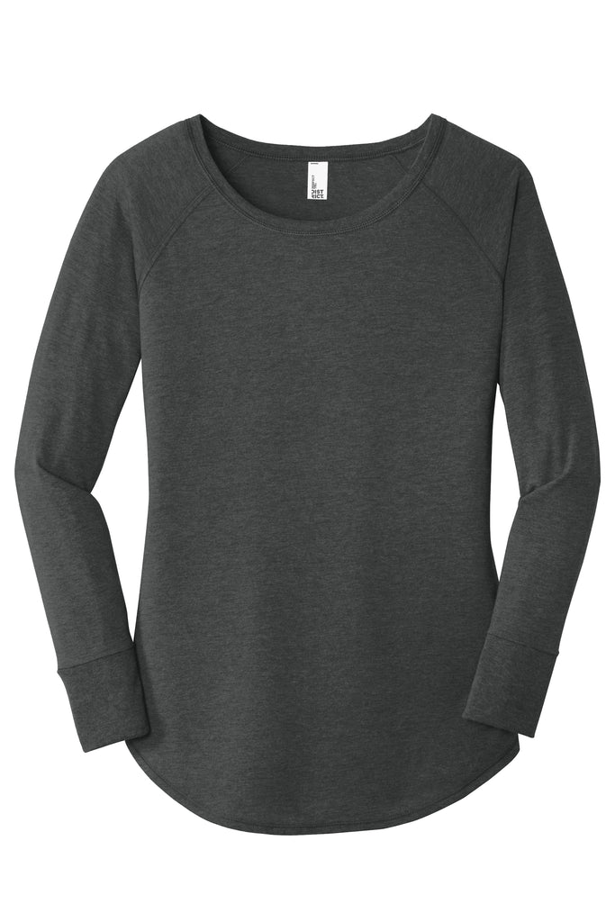District DT132L Ladies Perfect Tri Long Sleeve Tunic Tee