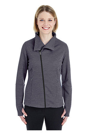 North End NE704W -  Ladies Amplify Melange Fleece Jacket