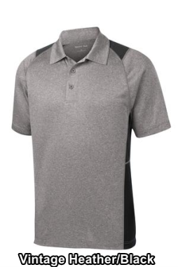 Sport-Tek ST665 - Men's Heather Colorblock Contender Polo