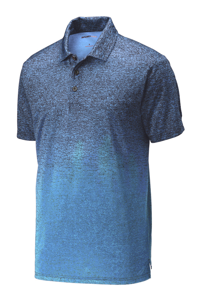 Sport-Tek ST671 Ombre Heather Polo