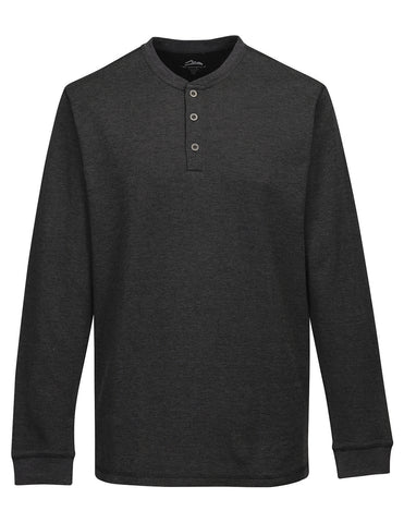 Tri Mountain K516 Heath Mini Stripe Long Sleeve Henley