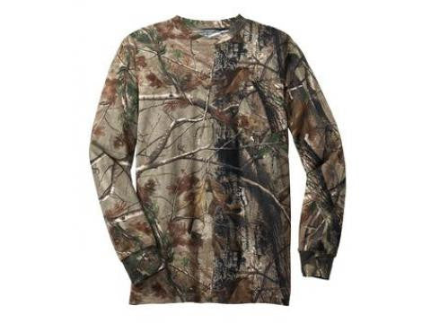 Realtree Extra Long Sleeve Explorer  100% Cotton T-Shirt with Pocket