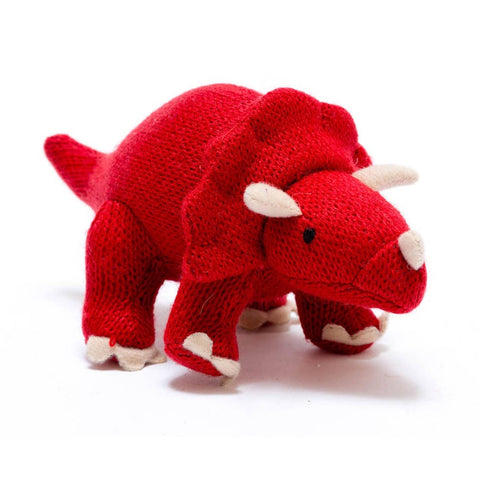 Dinosaur Rattle - Red Triceratops