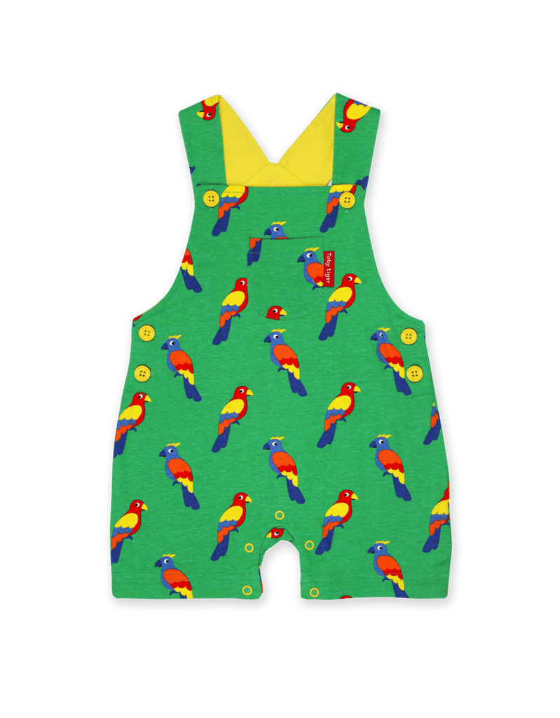 Dungaree Shorts - Parrot